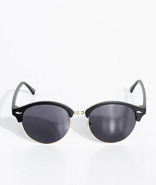 Roundie Black Club Master Sunglasses