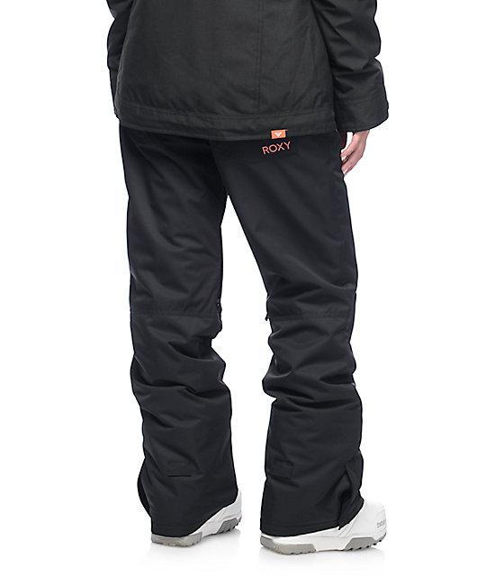 Roxy Backyard Black 10K Snowboard Pants