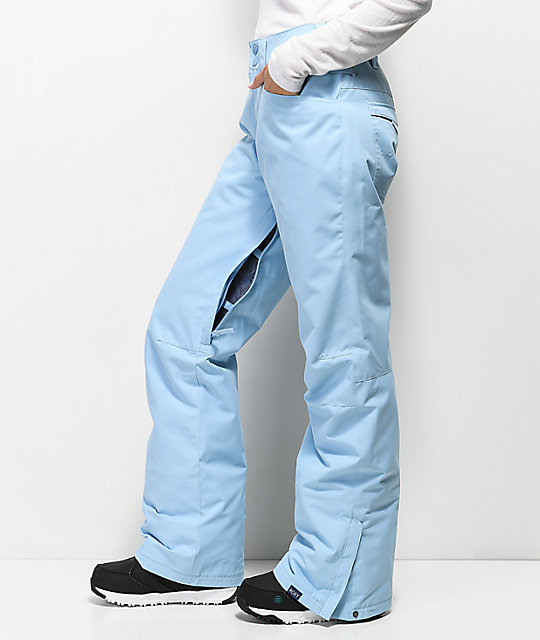 Roxy Backyard Powder Blue 10K Snowboard Pants
