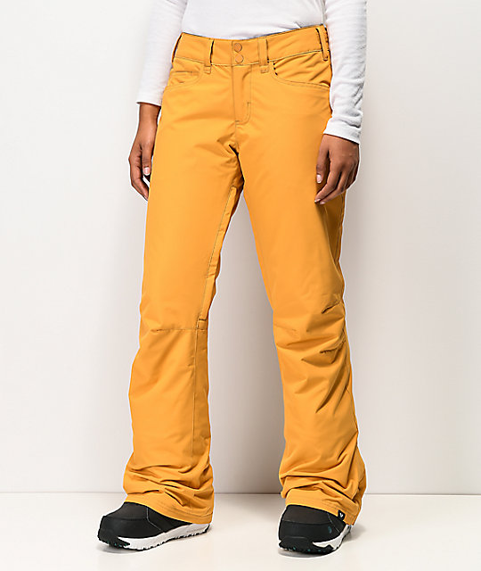 Roxy Backyard Spruce Yellow 10K Snowboard Pants