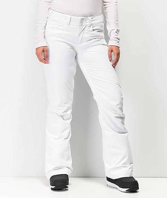 Roxy Backyard White 10K Snowboard Pants