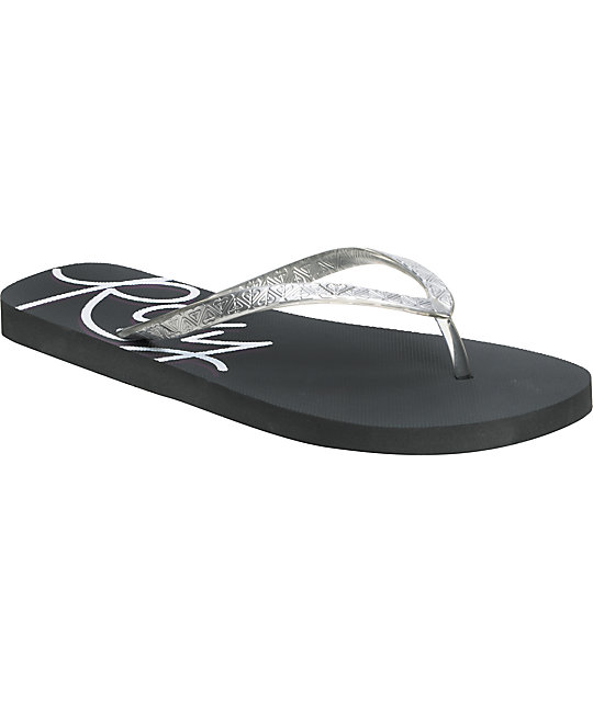 Roxy Bahama II Grey & Purple Sandals