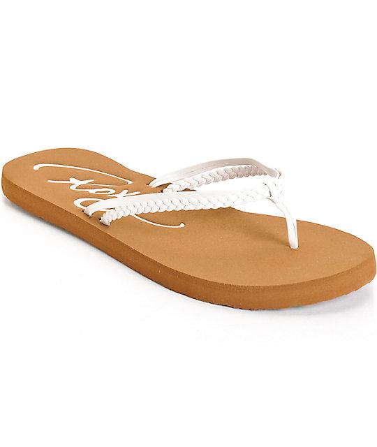 Roxy Cabo White Sandals ...