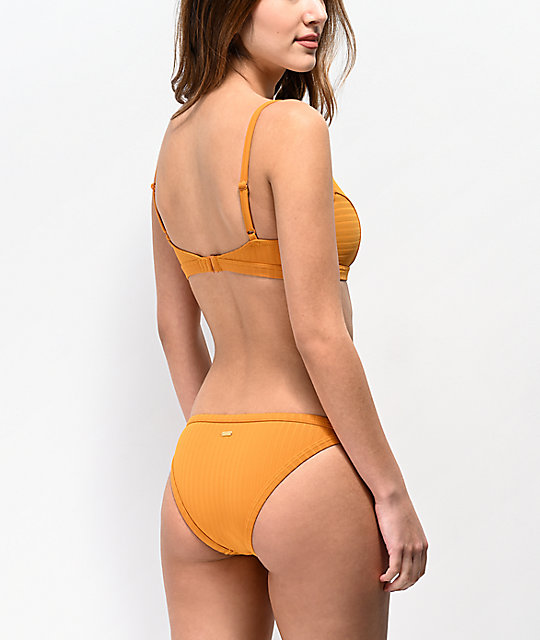 20f7eb19a8 Roxy Color My Life Inca Gold Bikini Bottoms