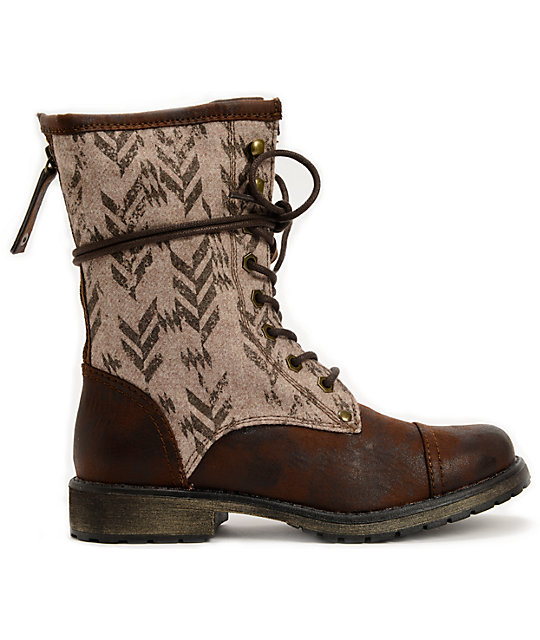 Roxy Concord Brown Canvas Boots