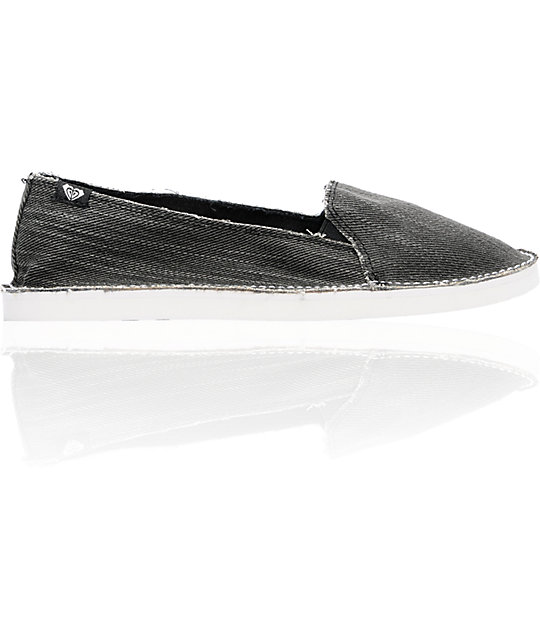 Roxy Costa Black Canvas Shoes