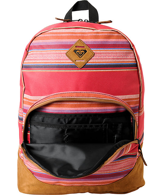Roxy Fairness Hot Lava Pink Stripe Backpack