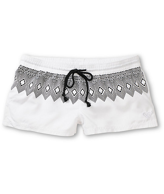Roxy Free Sky White & Tribal Board Shorts