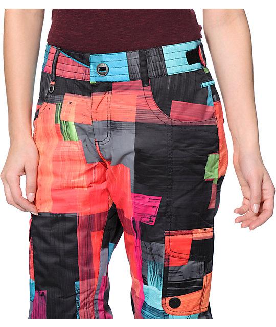 e0487c1578 ... Roxy Grease Lightning Orange 10K Snowboard Pants ...