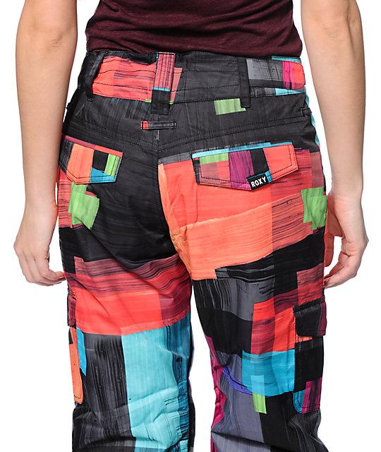 1ed078b370 ... Roxy Grease Lightning Orange 10K Snowboard Pants