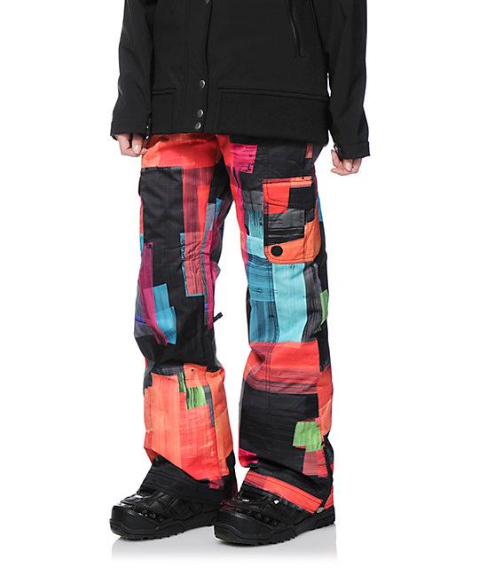 eae6c02967 Roxy Grease Lightning Orange 10K Snowboard Pants