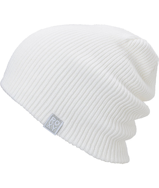 Roxy Happy Soul White Beanie