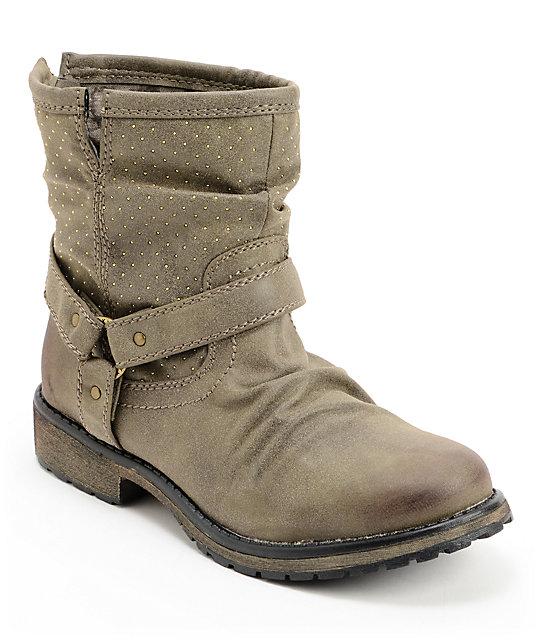 Roxy Holliston Olive Boots ...
