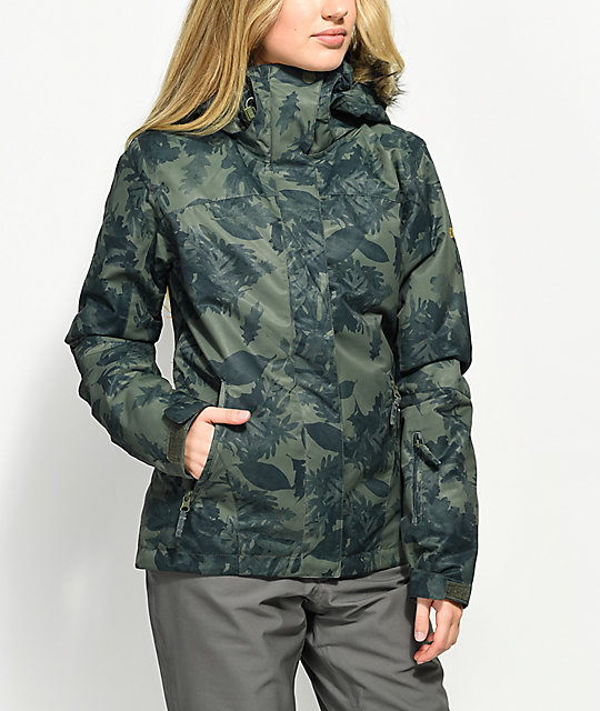 850071f37d8 Roxy Jet Ski Sylvan Forest 10K Snowboard Jacket