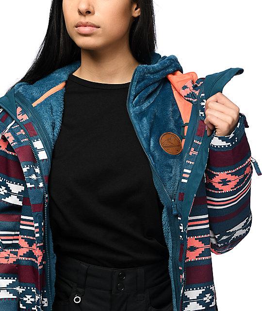 4b25103704 Roxy Jetty 3 in 1 Blue 10K Snowboard Jacket | Zumiez