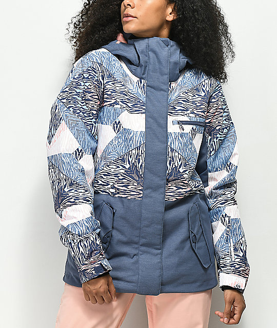 Roxy Jetty Block Animal Geo 10K Snowboard Jacket
