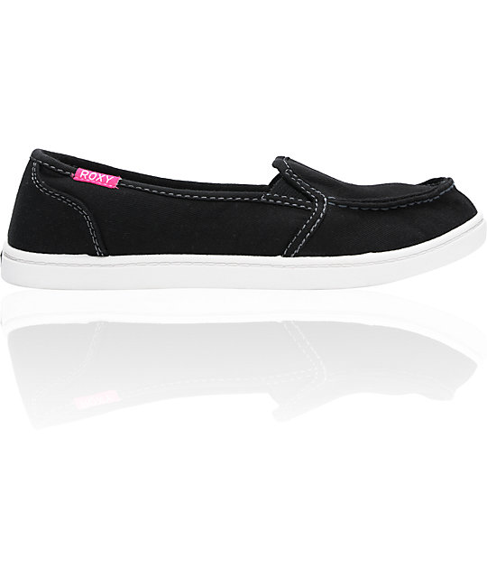 Roxy Lido Cruisers Black Canvas Shoes