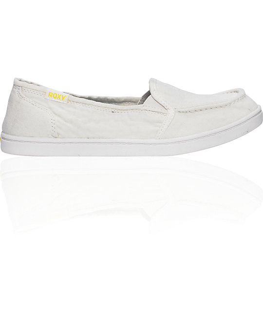 2415af9445e5 Roxy Lido Cruisers White Canvas Shoes
