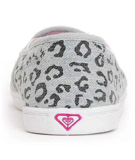 84c8fa2e2f27 ... Roxy Lido II Grey Leopard Print Slip On Shoes ...