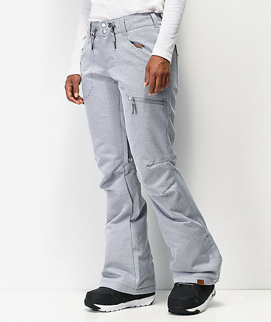 Roxy Nadia Heather Grey 10K Snowboard Pants