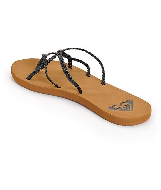 5db6ad74554 Roxy Oneeda Black Braided Sandals  Roxy Oneeda Black Braided Sandals ...