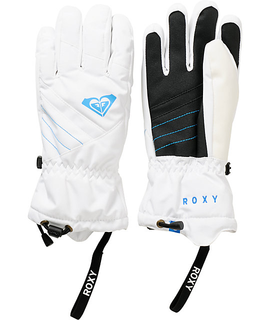 Roxy Pine White Snowboard Gloves