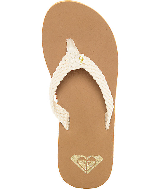 2fa7df804b96 ... Roxy Porto Cream Sandals ...