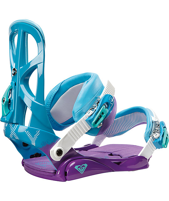 Roxy Team Blue & Purple Womens Snowboard Bindings