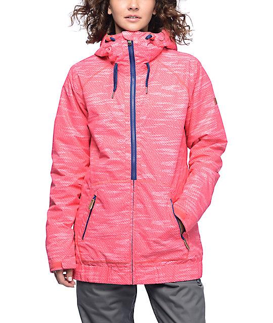 cf26b9cba4a Roxy Valley Paradise Pink 10K Snowboard Jacket