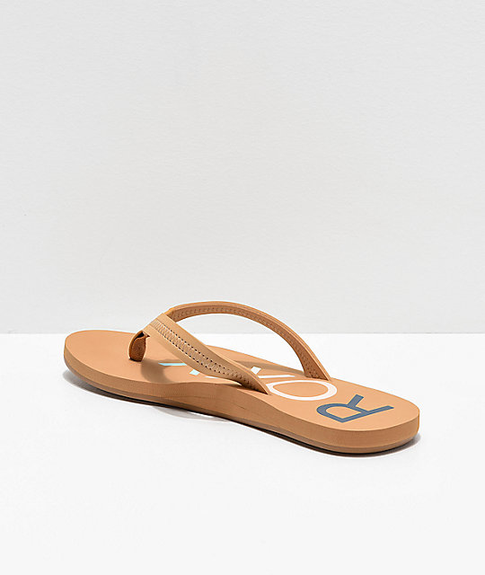 Roxy Vista II Tan Sandals