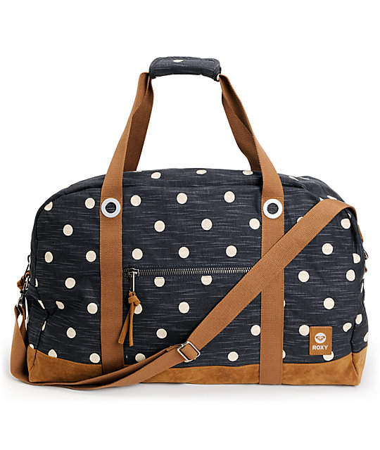 6381d3ab34 Roxy Wander Around Blue Black Duffel Bag
