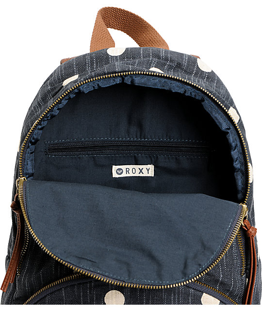 Roxy Wild Outdoors Blue Black Mini Backpack