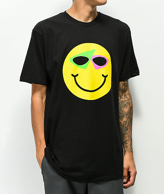 Roy Purdy Happy Face Black T-Shirt