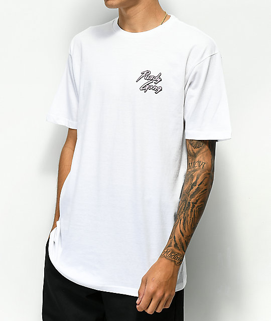 Roy Purdy Purdy Gang Check White T-Shirt