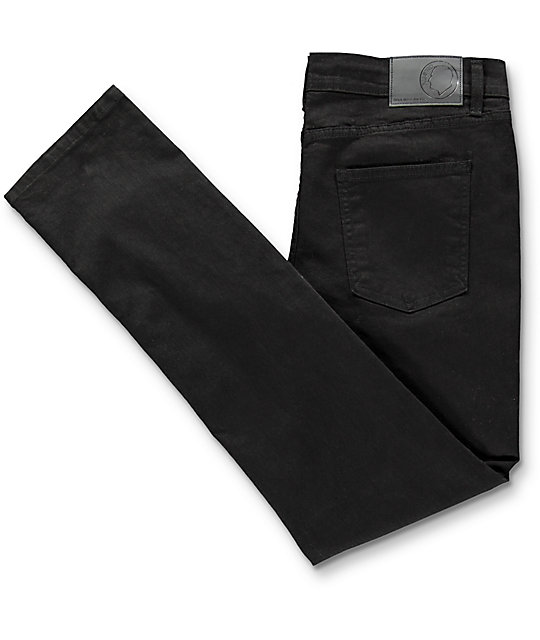Rustic Dime Black Knee Blowout Taper Fit Jeans