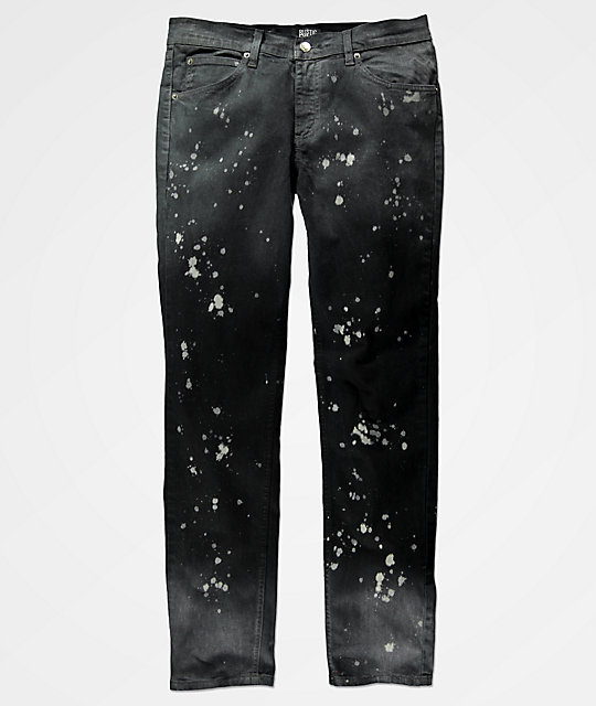 Rustic Dime Bleached Carbon Tapered Jeans