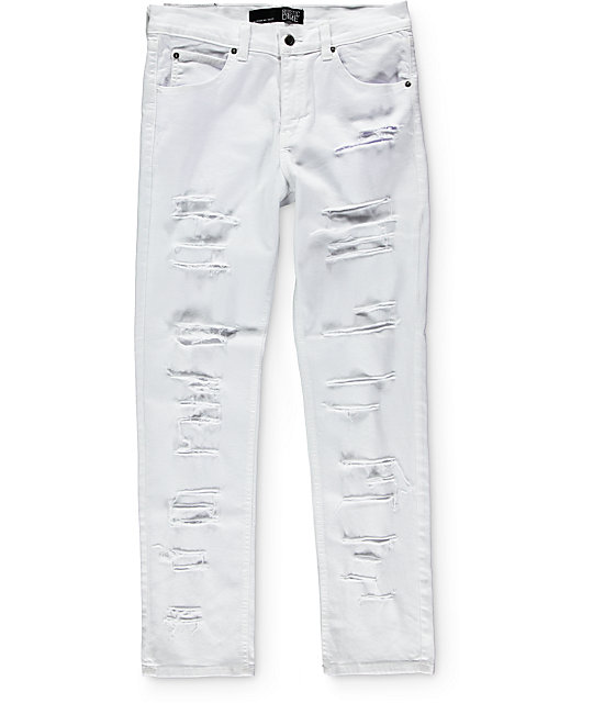 Rustic Dime Shredded Taper Fit Jeans