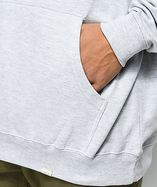 SOVRN Logo Heather Grey Hoodie