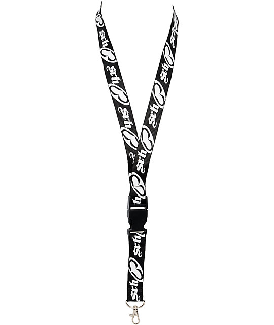 SRH Black & White Lanyard