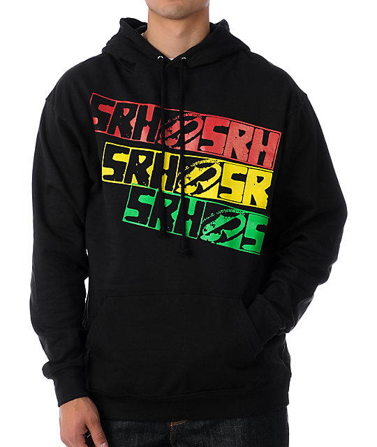 SRH Caution Tape Black Hoodie