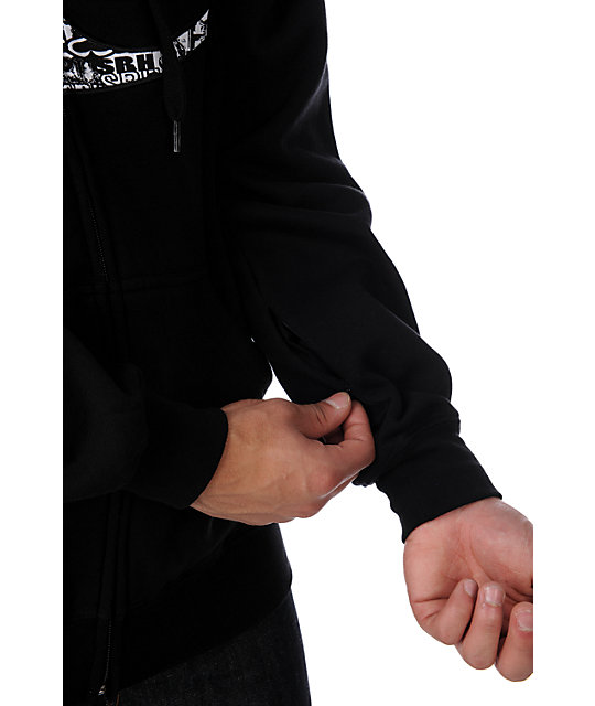 SRH Invader Black Zip Up Hoodie