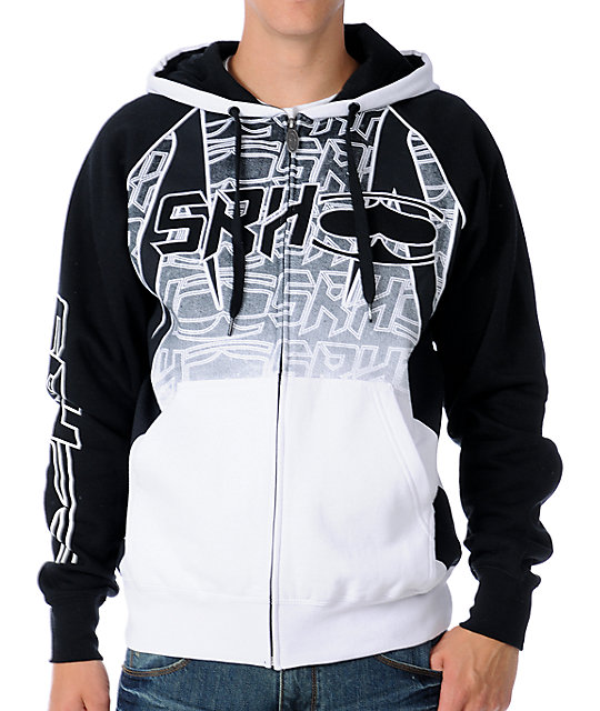 SRH Light Speed White Zip Up Hoodie