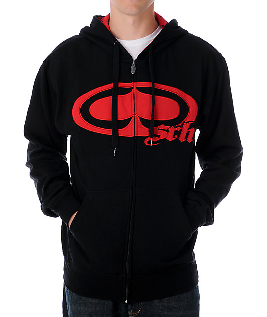 SRH New Spade Black & Red Hoodie