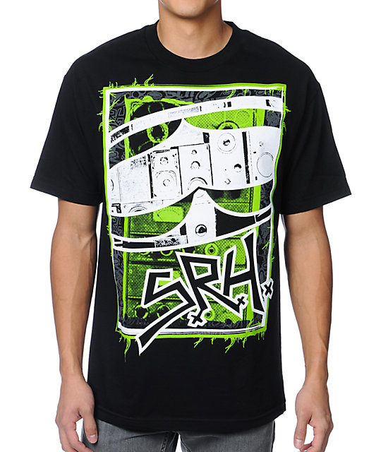 SRH Record Black, Green, & White T-Shirt