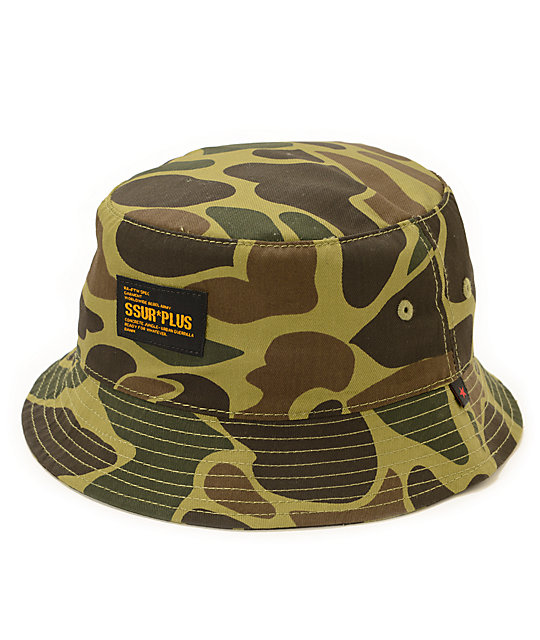 SSUR Duck Camo Bucket Hat  b14081db592