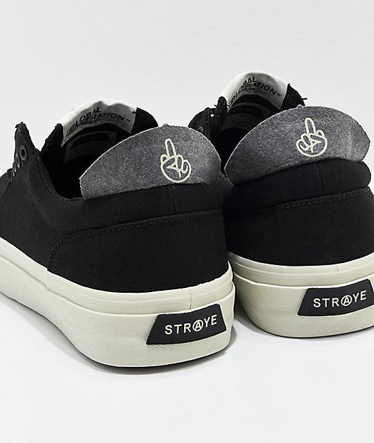 ... STRAYE Fairfax Black   Bone Skate Shoes ... 456d11bc7fd