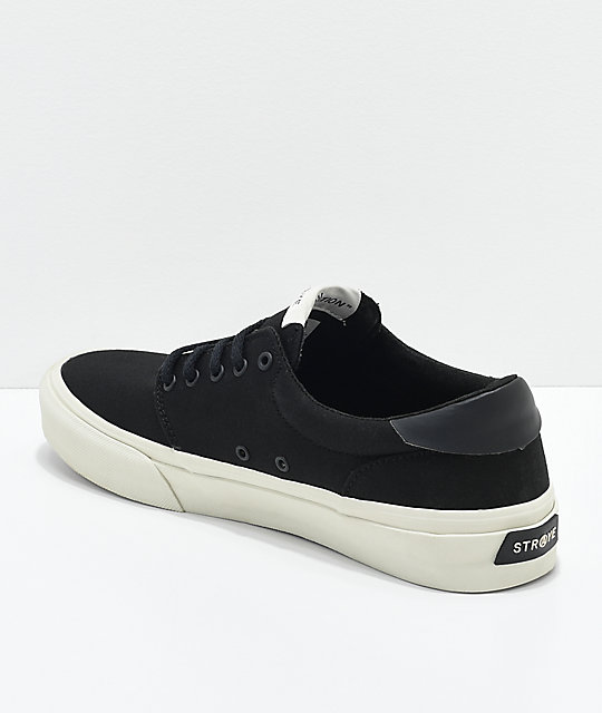 STRAYE Fairfax Black & Bone Skate Shoes