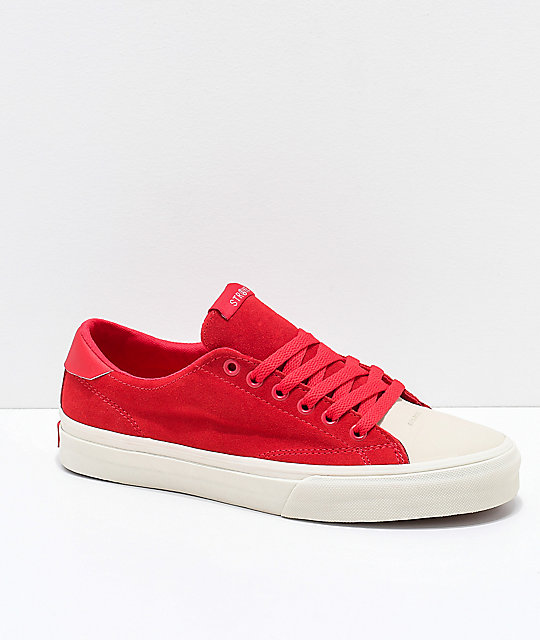 STRAYE Stanley Ben Baller Red Suede Skate Shoes  9a8bb1e09