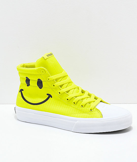 STRAYE Venice Smile Safety Yellow Skate Shoes