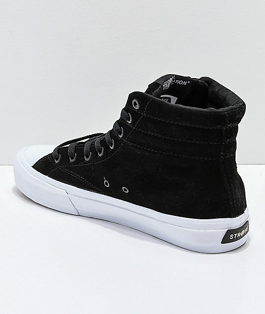 STRAYE Venice Zero Black & White Skate Shoes